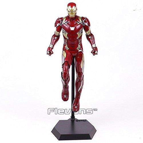 Game, Fun, Crazy Toys Iron Man MARK XLVI MK 46 1/6 Scale PVC Figure Collectible Model Toy 38cm, Toy, Play