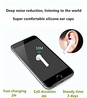 BOKATE JF-07 Bluetooth 4.1 Earbud, Mini Wireless Headset In-Ear Earphone Earpiece Headphone for Apple IPhone 7 7 Plus 6S 6S Plus and Samsung Galaxy S7 S8 and Android Phones (Single Right Ear)