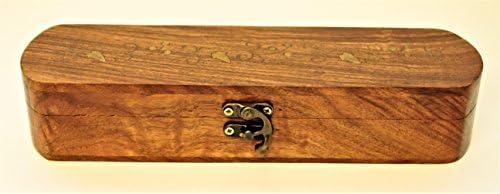 bdb58d68bd0f caja joyero madera de palisandro para anillos cadenas pulseras plumas.  Cargando imágenes.