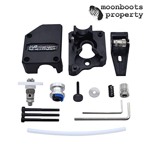 Best Genuine BMG Extruder Cloned Btech Bowden Dual Drive Extruder High Performance Kit for 1.75 Filament Creality CR-10 Ender 3 Anet Wanhao Geeetech A10 Compatible with V6 Hotend Moonboots Property
