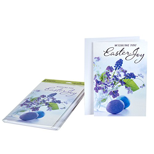 Hallmark Easter Greeting Cards (Violets, 6 Cards and 6 Envelopes)