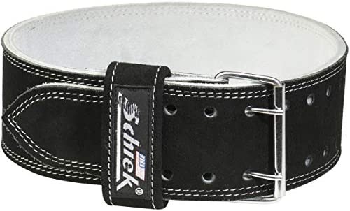 Schiek Sports Model 6010 Leather Competition Power Lifting Belt – Large – Black