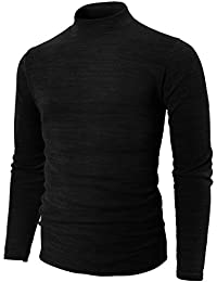 Mens Casual Slim Fit Knitted Thermal Turtleneck Pullover Sweaters Basic Designed