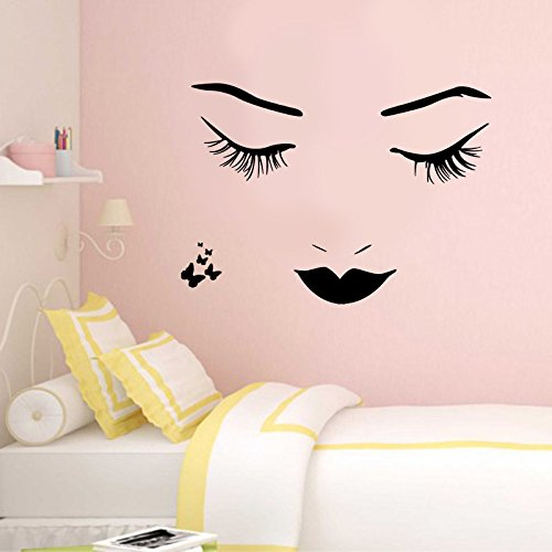 LaModaHome Decorative Wall Sticker VINYL Removable Wall Mural Decals (32.7