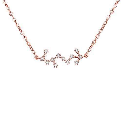 BriLove Rose-Gold-Toned 925 Sterling Silver Necklace -