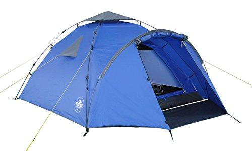 🥇 Lumaland Tienda de campaña Familiar Light Pop Up 3 Personas Camping Acampada Festival 220 x 220 x 130 cm