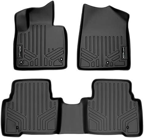 SMARTLINER Custom Fit Floor Mats 2 Row Liner Set Black for 2013-2018 Hyundai Santa Fe – All Models