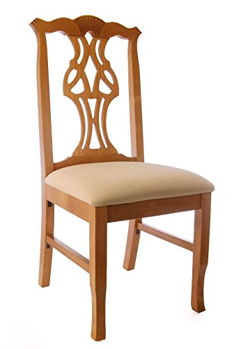 Beechwood Mountain BSD-36SV-HO Solid Beech Wood Side Chairs in Honey Oak for (Beechwood Dining Chair)