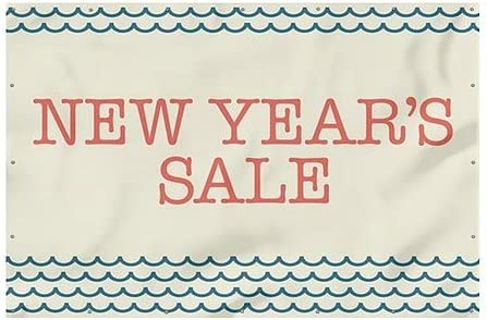 12x8 New Years Sale Nautical Wave Heavy-Duty Outdoor Vinyl Banner CGSignLab