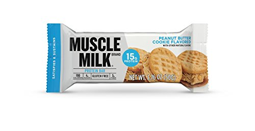 (Muscle Milk Protein Bar, Peanut Butter Cookie, 15g Protein, 12 count)