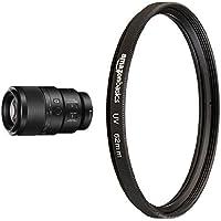 Sony SEL90M28G FE 90mm f/2.8-22 Macro G OSS Standard-Prime Lens for Mirrorless Cameras with AmazonBasics UV Protection Lens Filter - 62 mm