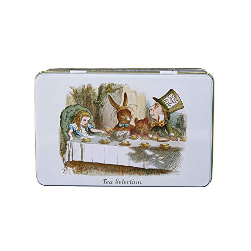 New English Teas Alice's Adventures in Wonderland Selection Tin 200 g (Pack of 1, Total 100 Teabags) ()