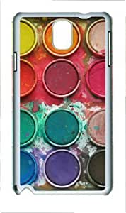 Hu Xiao Watercolor Paint Box Samsung Galaxy Note 3 N9000 qVbr0gOppLL case cover with White Edges Cover case cover by Lilyshouse