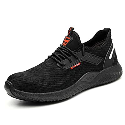 Work Safety Shoes Indestructible Steel Toe for Men Women, Comfortable Quality Mesh Working Shoes for Summer All Season Lightweight Industrial Construction Sneakers Unisex