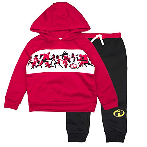The Incredibles Toddler Boys Incredibles Jogger Set - Disney Pixar Hoodie & Sweatpants Set (Red/Black, -