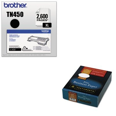 KITBRTTN450SOU404C - Value Kit - Southworth 25% Cotton Business Paper (SOU404C) and Brother TN450 TN-450 High-Yield Toner (BRTTN450) by Southworth