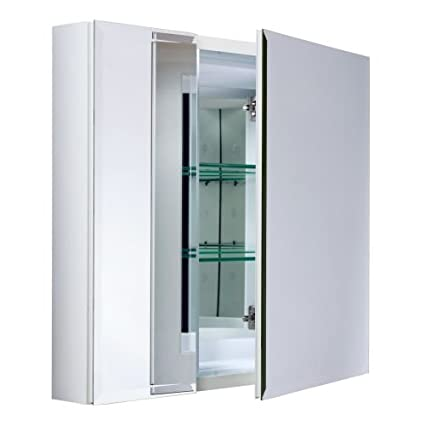 Miseno MBC2630 Dual Mount 26u0026quot; X 30u0026quot; Beveled Double Door Medicine Cabinet (Surfac  sc 1 st  Amazon.com : beveled door - pezcame.com