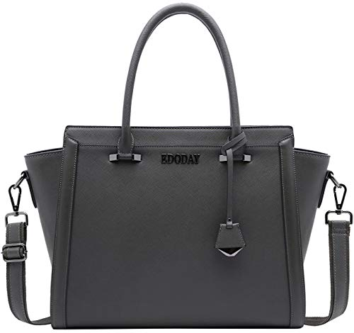 Laptop Bag for Women,15.6 Inch Multi Pocket Water Resistant Laptop Briefcase Versatile Work Tote Bag for School Business Travel Shopping,Gray (Womens Multi Briefcase Pocket)