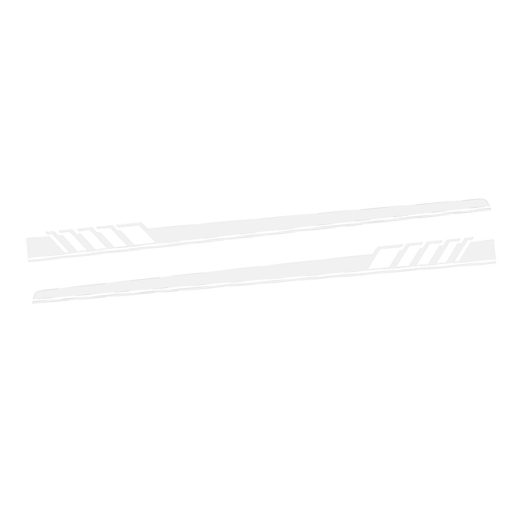 MagiDeal 2 Pieces Universal Car Body Side Stripes Skirt Vinyl Decals Sticker Decor - White non-brand