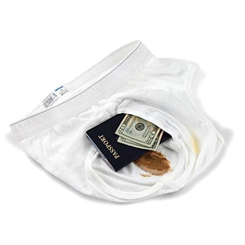 IGE Innovative Internet Products The Brief Safe Hidden Contents Travel Passport Wallet - Diversion Safe,White,Regular