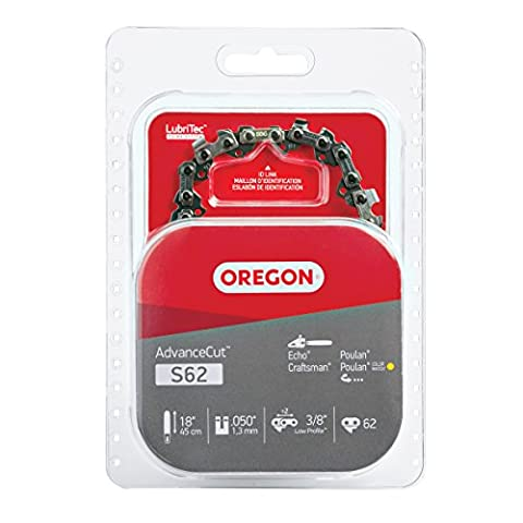 Oregon S62 18-Inch Semi Chisel Chain Saw Chain Fits Craftsman, Homelite, Poulan (Chainsaw 18 Inch)