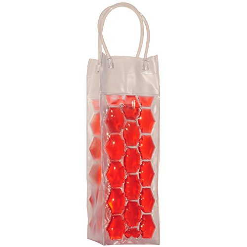 Chill It - Wine Bag Beer Bottle Cooler & Ice Chiller Freezable Carrier (Red) (Beer And Wine Baskets)