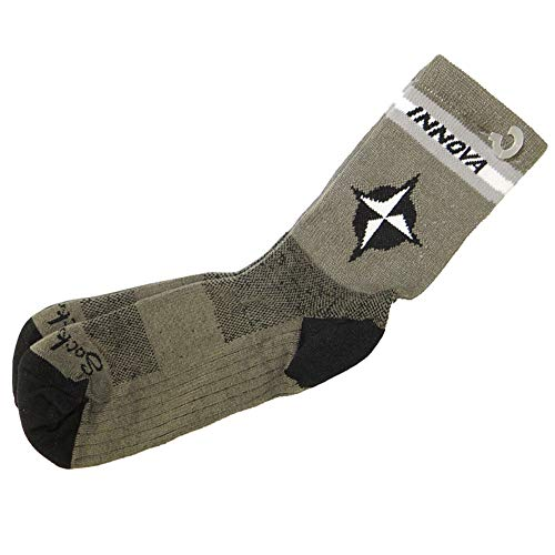 Innova Disc Golf Star Performance Disc Golf Socks - Gray/White/Black