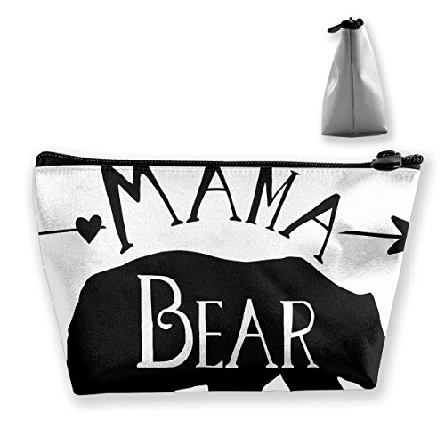 Makeup Bag Cosmetic Mama Bear Portable Bag Mobile Trapezoidal Storage Bag Travel Bags With Zipper