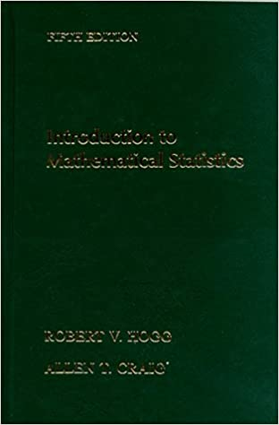 Introduction To Mathematical Statistics Hogg 7th Edition Pdf
