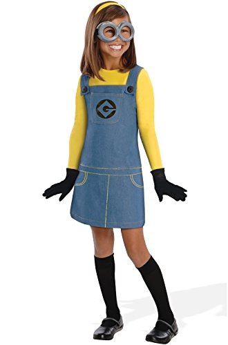 Despicable Me Female Minion Kids (Minion Halloween Costume For Girls)