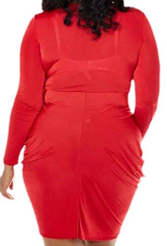 erdbeerloft - Damen Kleid Grosse Grössen Big Size, 44-52, Rot