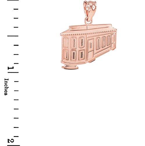 Joyara - Collier Pendentif 10 ct Or Rose Gold San Francisco téléphérique