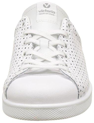 Piel Blanc Victoria Perforado Mixte Adulte blanco Deportivo Baskets 8x8Yrq5w