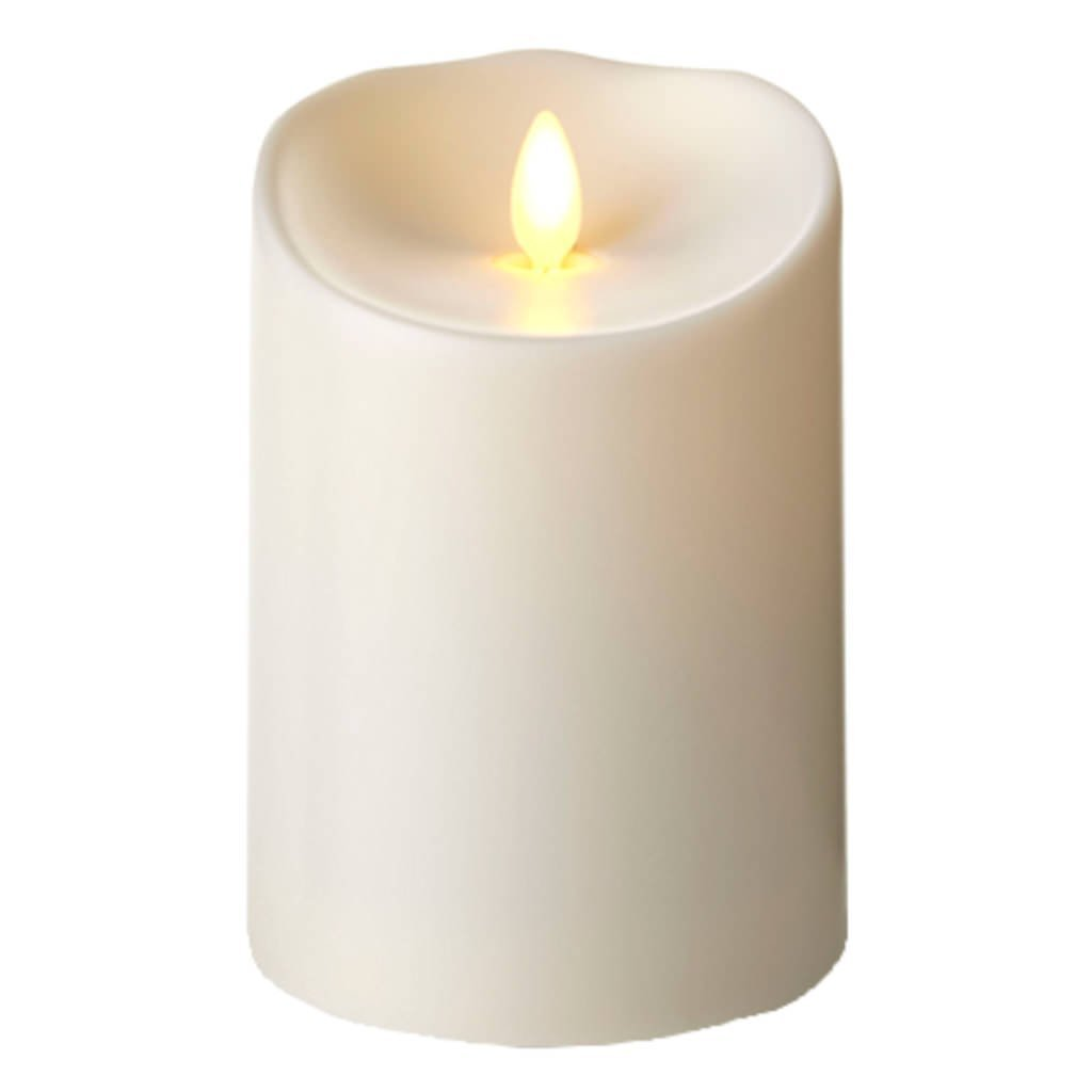 Luminara Flameless Candle - Vanilla Scented Outdoor Pillar - 3.75 x 5 inches