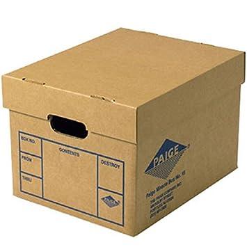 Oficina cajas de almacenamiento y movimiento (6 unidades) cajas de archivos de milagro: Amazon.es: Oficina y papelería