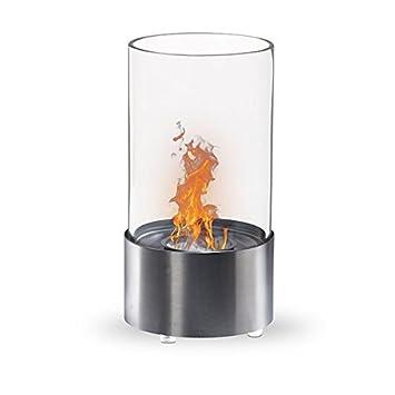 Lutèce-acero inoxidable cepillado, Chimenea de mesa, de etanol (mini estufa) bio: Amazon.es: Hogar