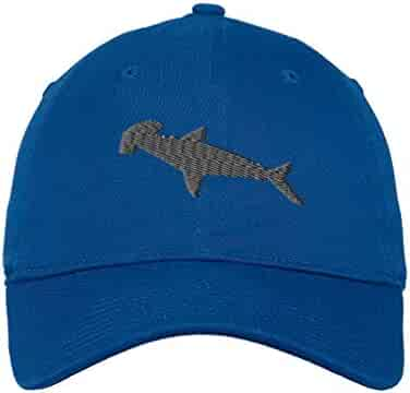 5ab26d15c9503 Custom Low Profile Soft Hat Hammerhead Shark Embroidery Animal Name Cotton