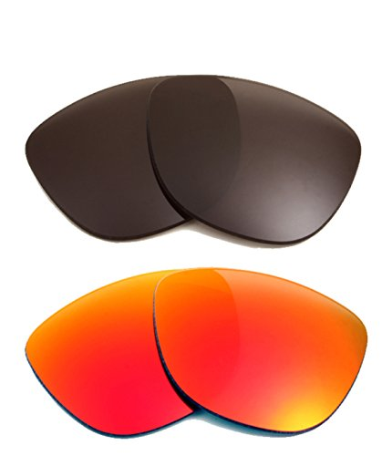 (FROGSKINS Replacement Lenses Polarized Grey & Ruby Red by SEEK fits OAKLEY)