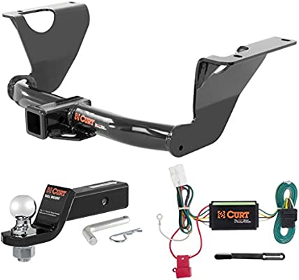 amazon com curt class 3 trailer hitch tow package with 2\