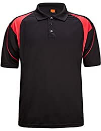 Men's Polo Shirt Cool Quick-Dry Sweat-Wicking Color Block Short Sleeve Sports Golf Tennis T-Shirt