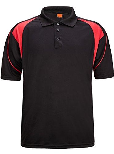 ZITY Sportswear Men's Quick-Dry Sweat-Wicking Sport Shirt Black US XS/Label M