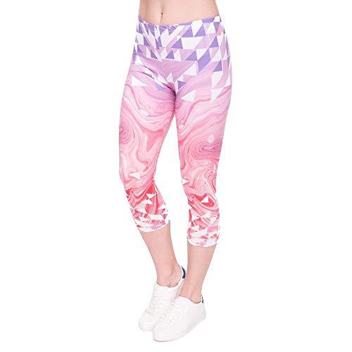 Pantaloni Capris Movimento 3 Rosa Polpaccio Yoga Marmo Metà Lgc45792 Ghette Estate Stampa Di Fashionable 4 Delle Donne Leggings Triangoli Moda zrAzxnqUaC