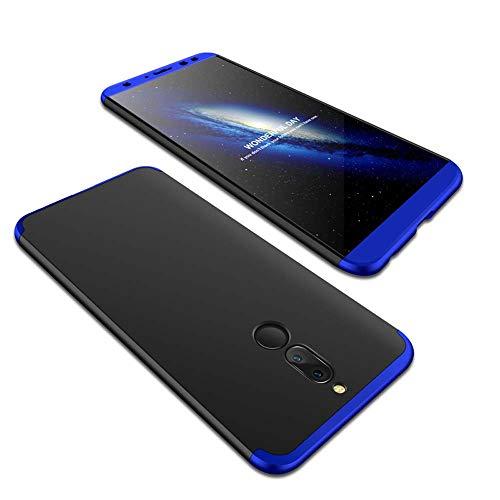 cmdkd Huawei Mate 10 Lite Funda, Huawei Mate 10 Lite Case Bumper 3 en 1 Estructura 360 Grados Integral para Ambas Caras Hard...