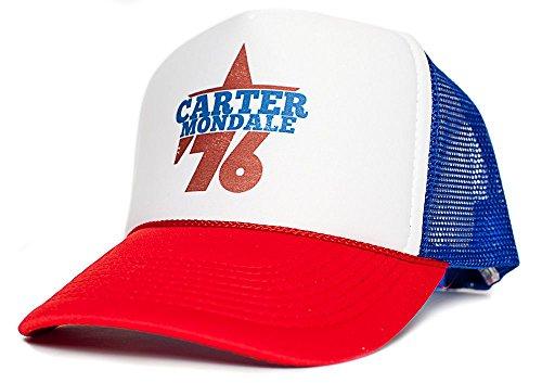 Jimmy Carter Walter Mondale 76 Presidential Cap Unisex-adult Hat Multi (Royal/White/Red)