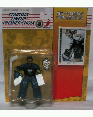 (Starting Lineup Sports Superstar Collectibles First Year Edition 1994 - Special Card Included - Buffalo Sabres Grant Fuhr)