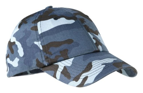 Camo Camouflage Blue (Port Authority Camouflage Cap - Navy Camo C851 OS)