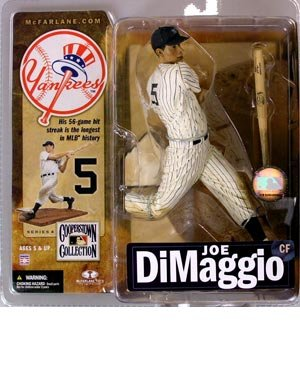 McFarlane Toys MLB New York Yankees Cooperstown Collection Series 4 Joe DiMaggio Action Figure [Gray (Yankees Fan Series)