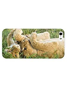 3d Full Wrap Case for iPhone 5/5s Animal Lion Cubs77