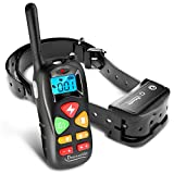 Training Dog Collar - PetLevelUp Shock Collar for Dogs - Dog Training Collar with Remote Control 1000 feet - Rechargeable and Upgraded IP67 Waterproof Electric Collar for Large Medium Small Dogs