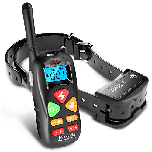 PetLevelUp Shock Collar for Dogs – Dog Training Collar with Remote Control 1000 feet – Rechargeable and Upgraded IP67 Waterproof Electric Collar for Large Medium Small Dogs